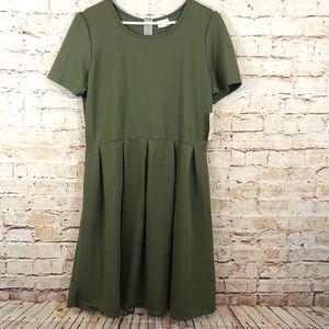 LuLaRoe Amelia Dress NEW green solid sage army